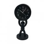Relógio boneco em pé preto