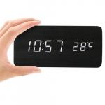 Relógio digital preto