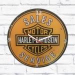 Relógio vidro Harley Davidson retrô