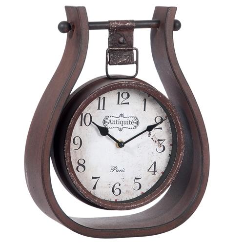 Relógio Antiqueté Paris Pendurado em Metal - 35x27 cm