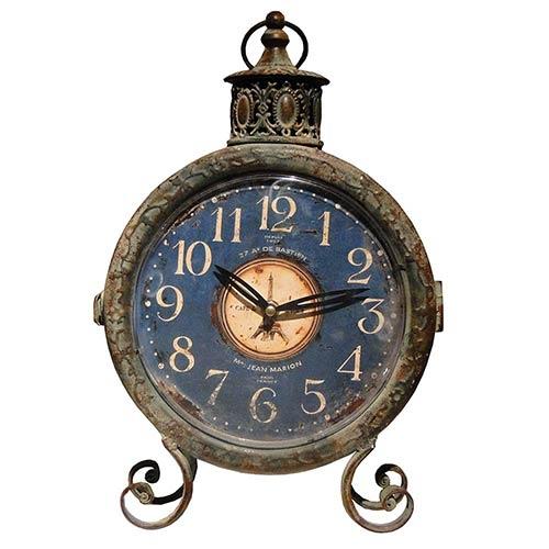 Relógio Balcão 2 Faces La Fayette Oldway - 39x25x8 cm