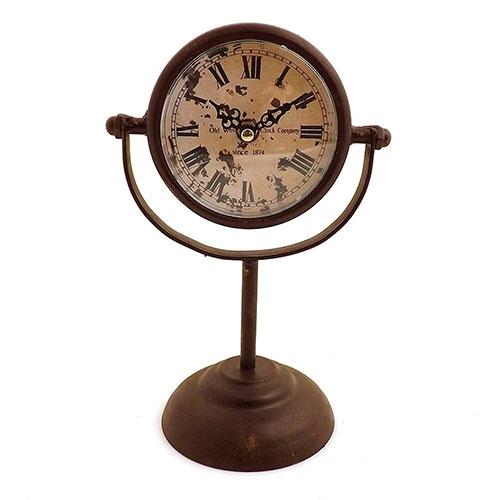 Relógio de Balcão Jalle Rouge/Old West Clock Company Oldway -  Em Metal e Vidro - 17x27 cm