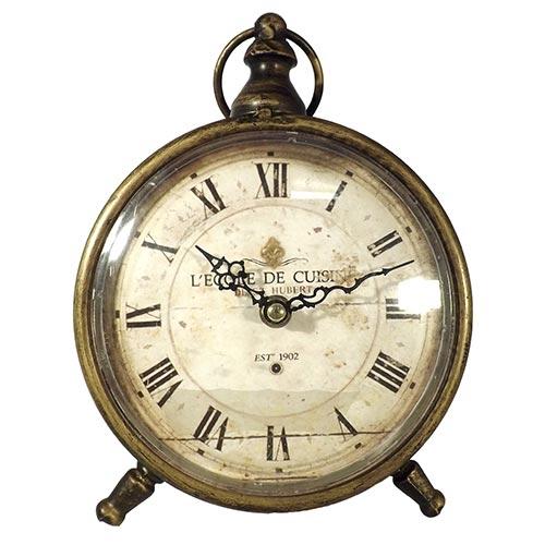 Relógio de Balcão Lecole de Cuisine Oldway - Metal - 23x16 cm