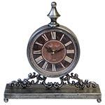 Relógio de Balcão Prata Fundo Vermelho Oldway