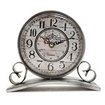 Relógio de Balcão Silver Bond Street em Metal Oldway