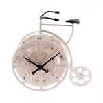 Relógio Bicicleta Branca - 17x17 cm