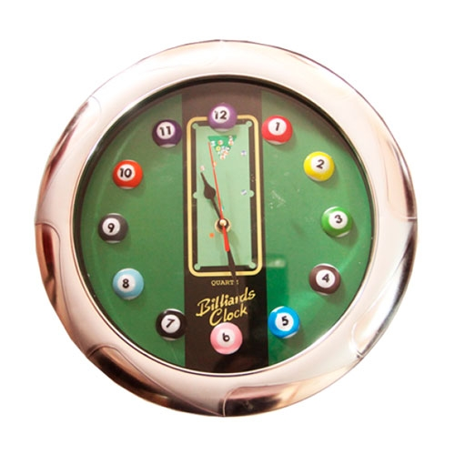 Relógio Billiards Clock em Metal - 33x3 cm