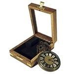 Relógio de Bolso Escuro Box Oldway - 10x7 cm