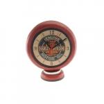 Relógio Bomba de Gasolina Harley Vermelha em Resina - 24x22 cm