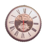 Relógio Bottle Cap Vintage em Metal