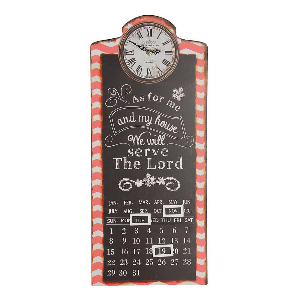 Relógio com Calendário Thelord Oldway em Metal - 58x25x4 cm