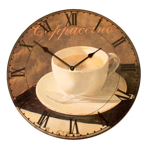Relógio Capuccino Marrom/Bege em MDF - 30 cm