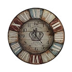 Relógio Colorido Hotel Blanco Oldway - 75x3 cm