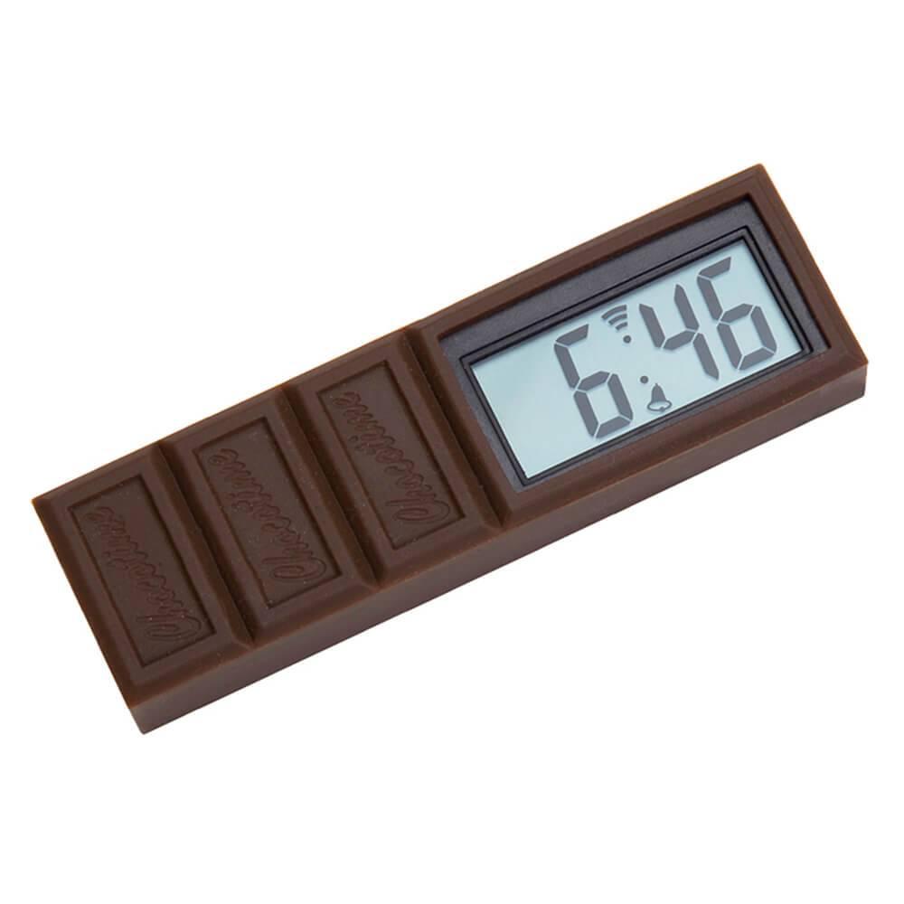 Relógio Despertador Barra de Chocolate Marrom em Silicone - Urban