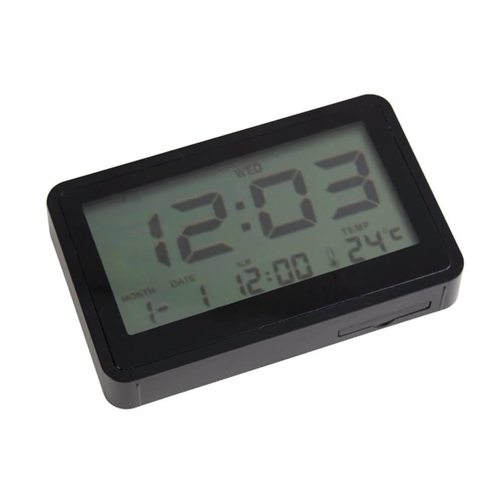 Relógio Despertador Case Flat Preto - Urban - 9,5x5,5 cm