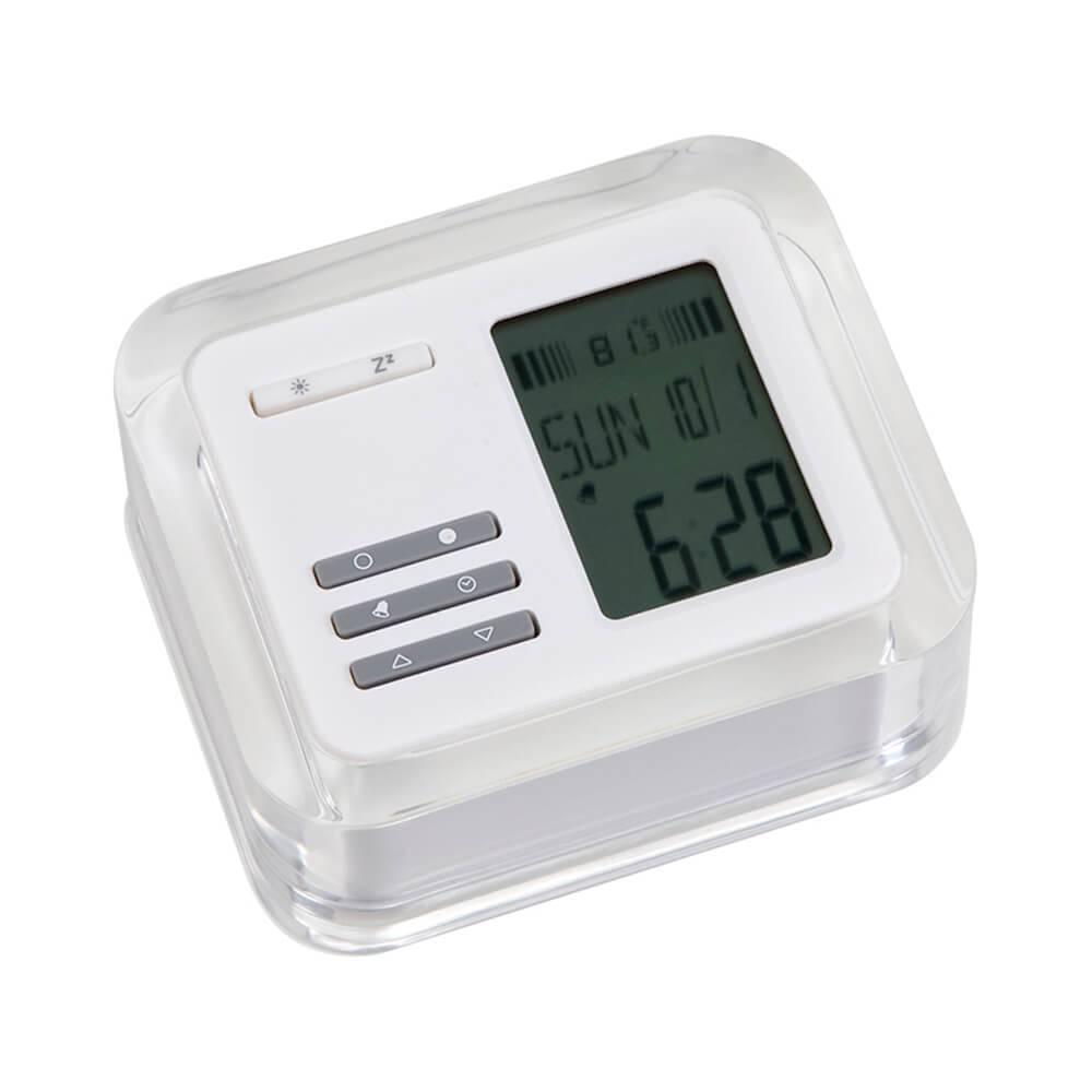 Relógio Despertador Cristy LCD com Termômetro em Led e Acrílico - Urban