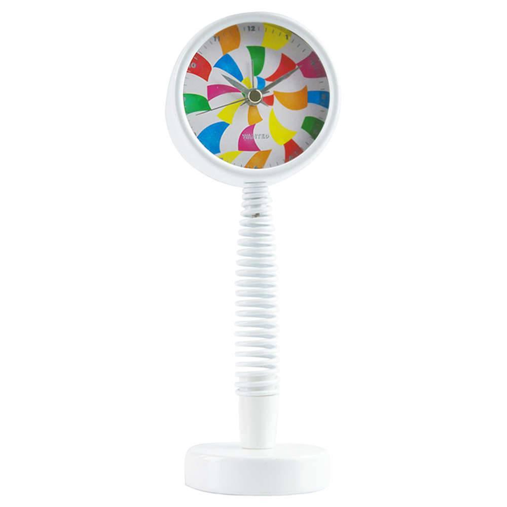 Relógio Despertador Espiral Lollypop Colorido em Metal - Urban - 21x8 cm