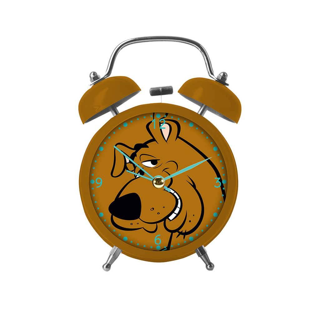 Relógio Despertador Hanna Barbera Scooby-Doo Face Marrom em Metal - Urban - 17x11,8 cm
