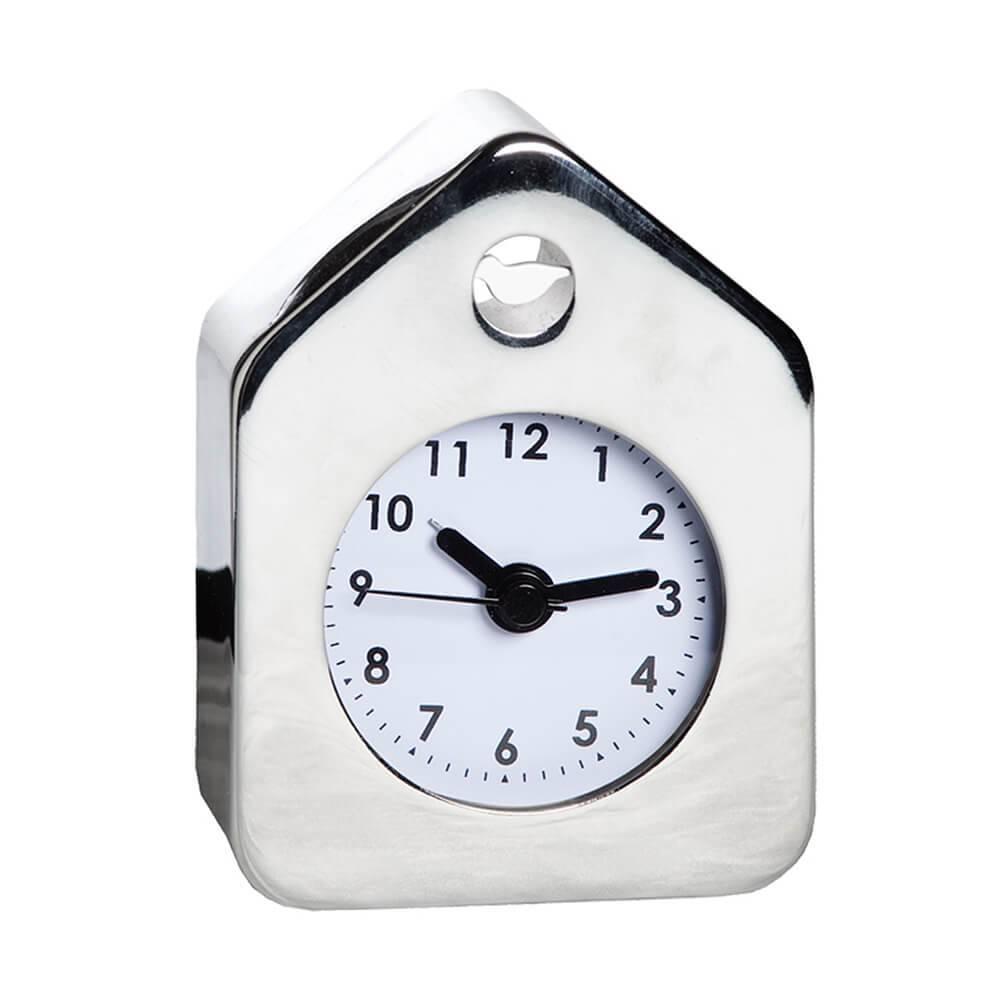 Relógio Despertador House Style Cromado em Aço - Urban - 10x7 cm