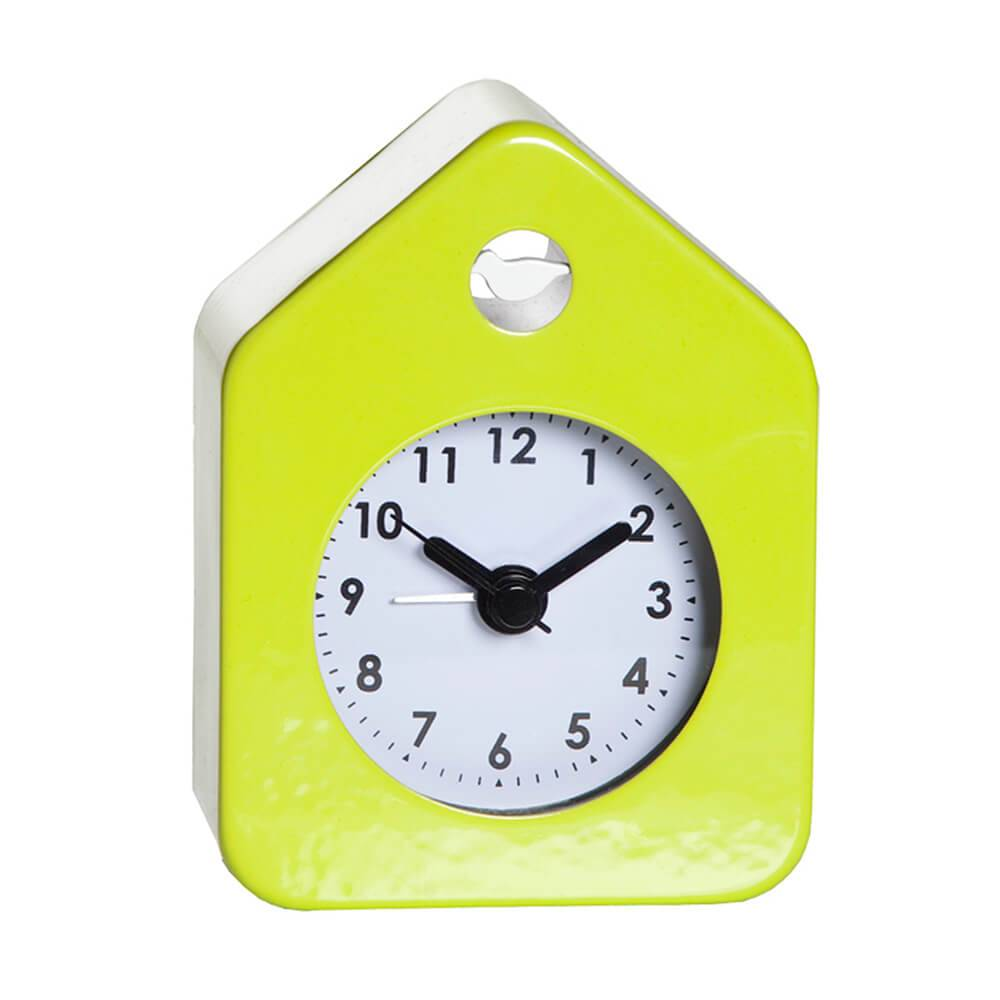 Relógio Despertador House Style Verde em Aço - Urban - 10x7 cm