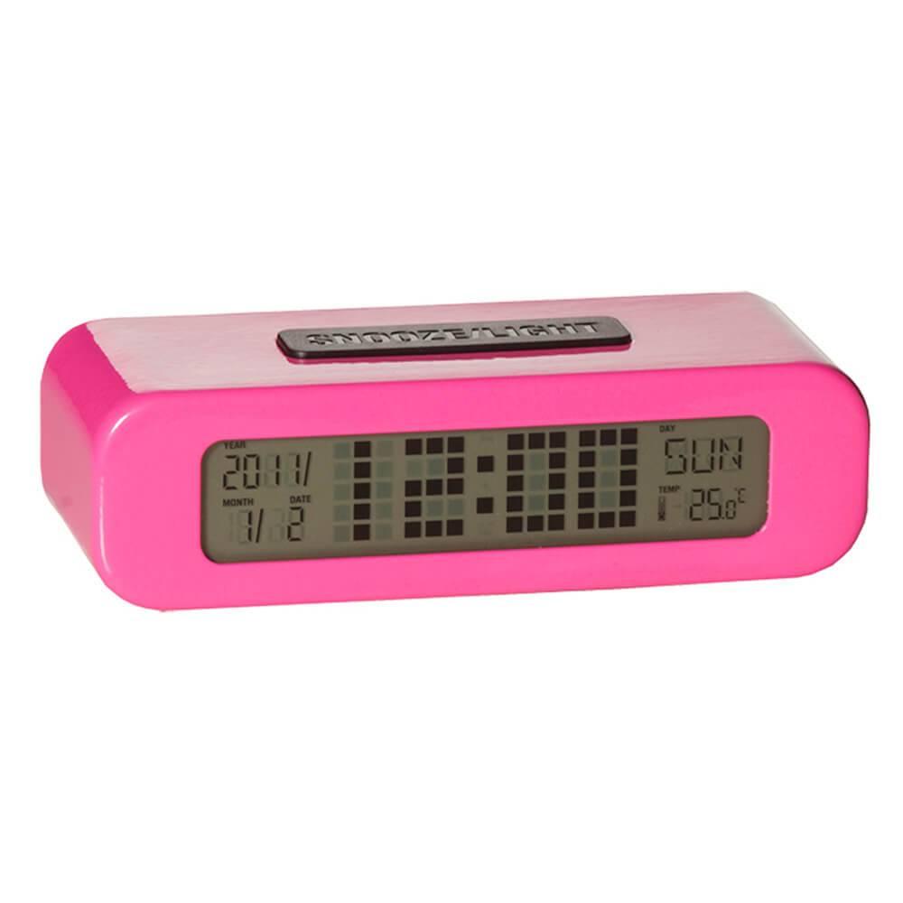 Relógio Despertador LCD Digital Pink - Urban - 13,5x9 cm