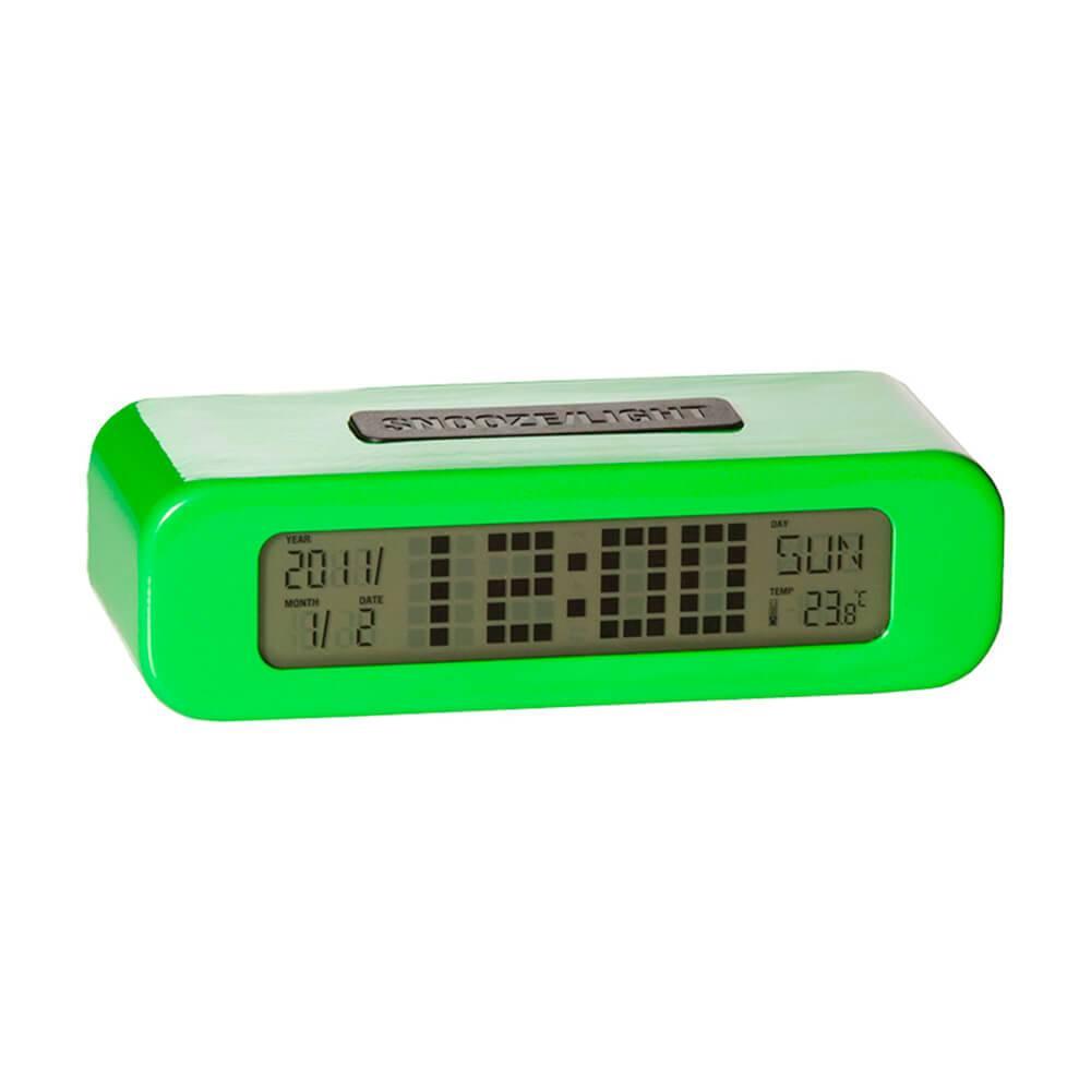 Relógio Despertador LCD Digital Verde - Urban - 13,5x9 cm