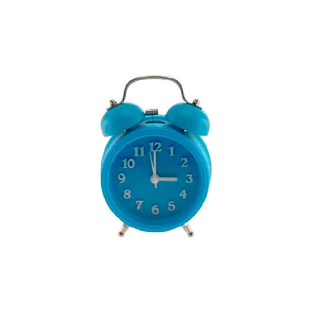 Relógio Despertador Lince Azul Redondo - 13x8 cm