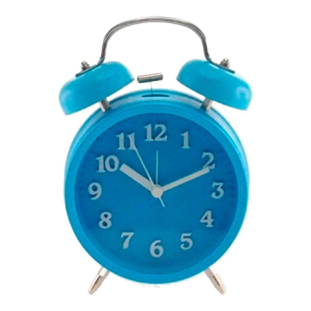 Relógio Despertador Lince Azul Redondo - Médio - 18x12 cm