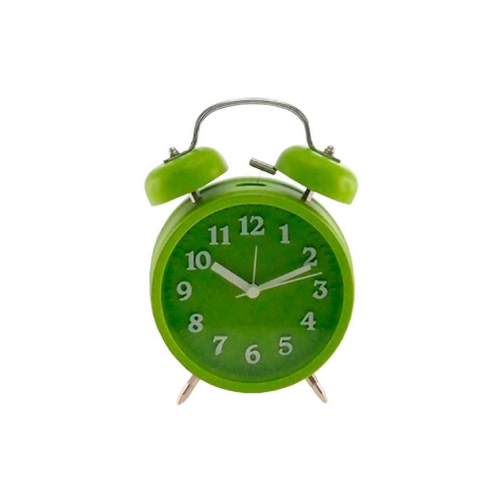 Relógio Despertador Lince Verde Redondo - Médio - 18x12 cm