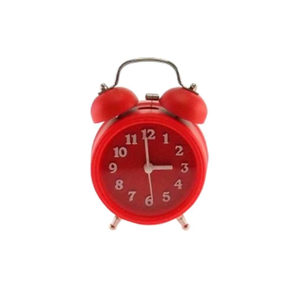 Relógio Despertador Lince Vermelho Redondo - 13x8 cm
