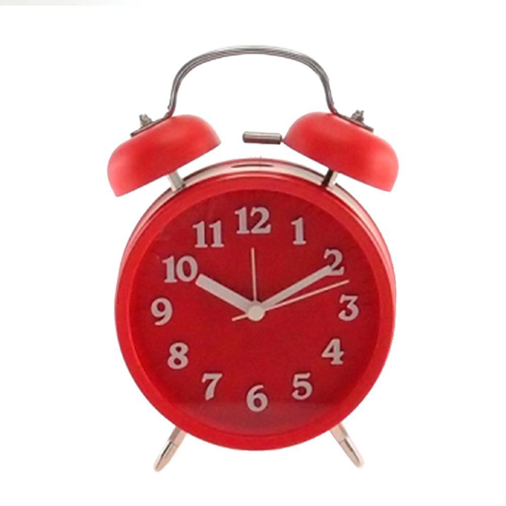 Relógio Despertador Lince Vermelho Redondo - Médio - 18x12 cm