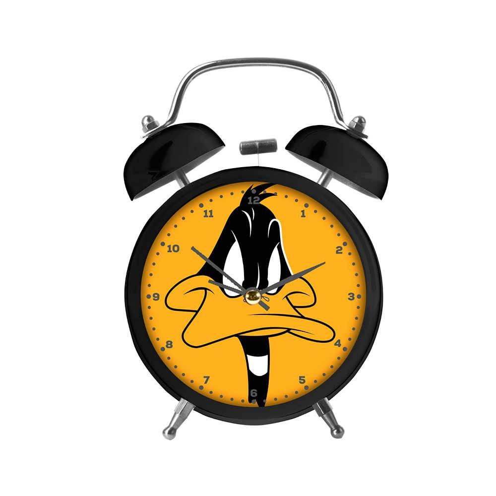 Relógio Despertador Looney Tunes Daffy Duck Big Face em Metal - Urban - 17x11,8 cm