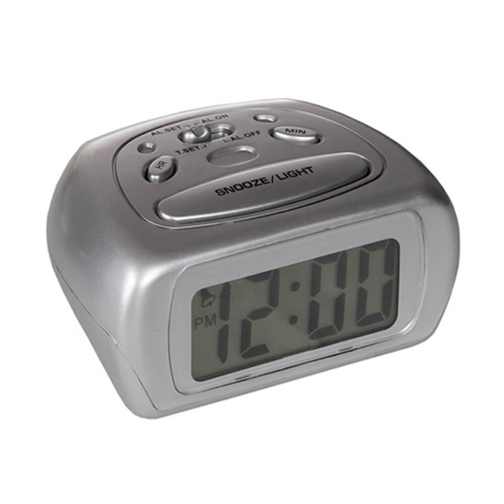 Relógio Despertador Space Prata - Urban - 11,5x8,5 cm