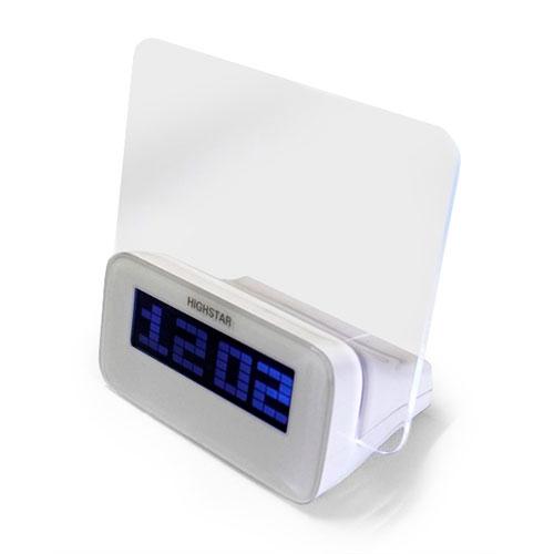 Relógio Digital c/ Medidor de Temperatura - 14x12 cm