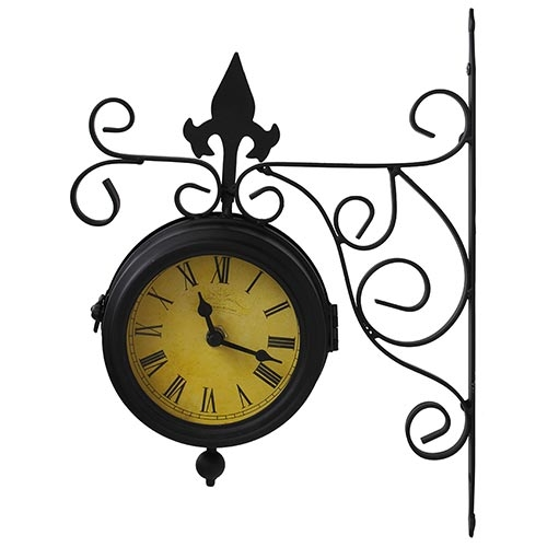 Relógio Estação Antique Uso Externo Greenway - 29x22cm