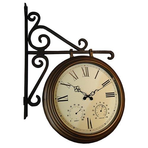 Relógio Estação c/ Termômetro/Higrômetro Greenway - 76x54cm