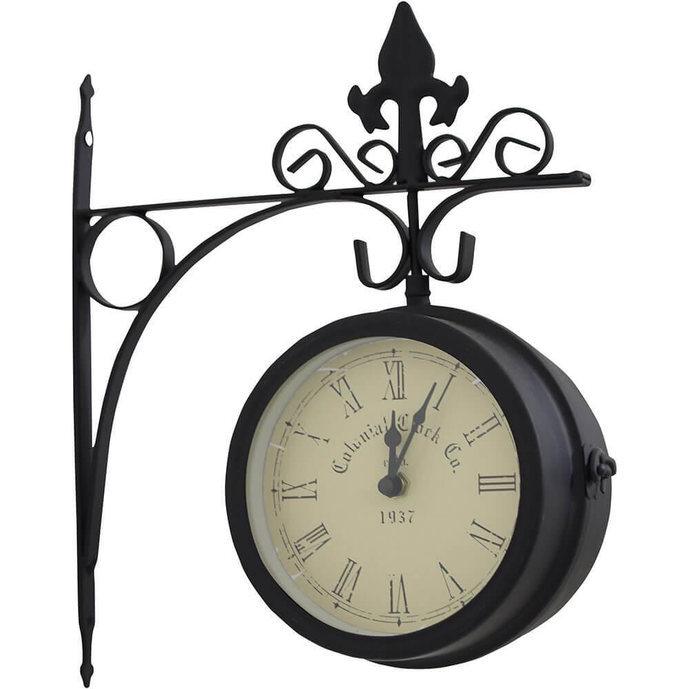Relógio Estação Colonial Clock Greenway - 37x30x9cm