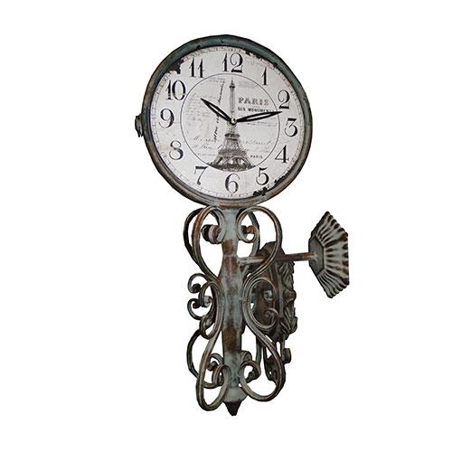 Relógio Estação Paris Dupla Face Oldway - 53x12 cm