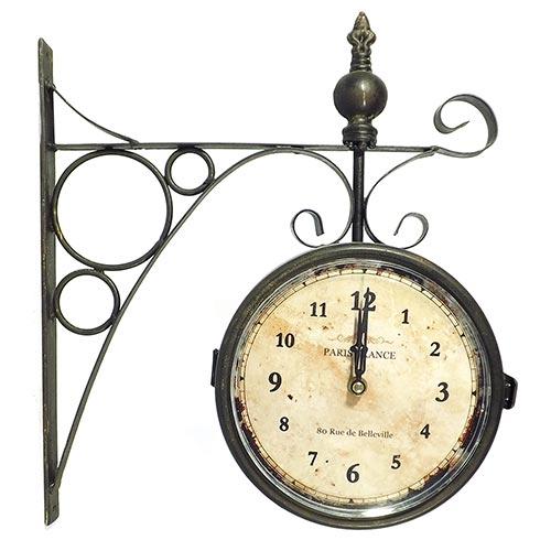 Relógio Estação Paris France Envelhecido Oldway - 36x33cm