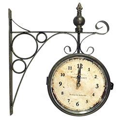 443067474eb Relógio Estação Paris France Envelhecido Oldway