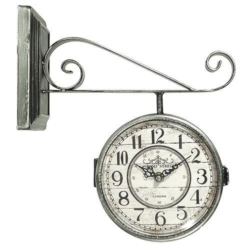 Relógio Estação Silver Bond Street Oldway - 30x28cm