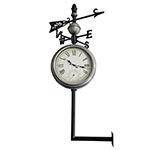 Relógio Estação Termômetro/ Rosa dos Ventos Greenway - 119x54 cm
