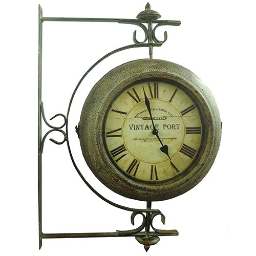 Relógio Estação Vintage Port Giratório Oldway - 55x40cm