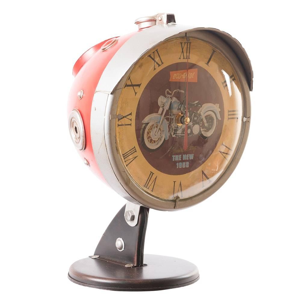 Relógio Farol Modelo Hand Bag Vermelho em Metal - 30x21 cm