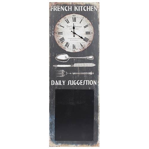 Relógio French Kitchen Note Board Oldway - 100x35 cm