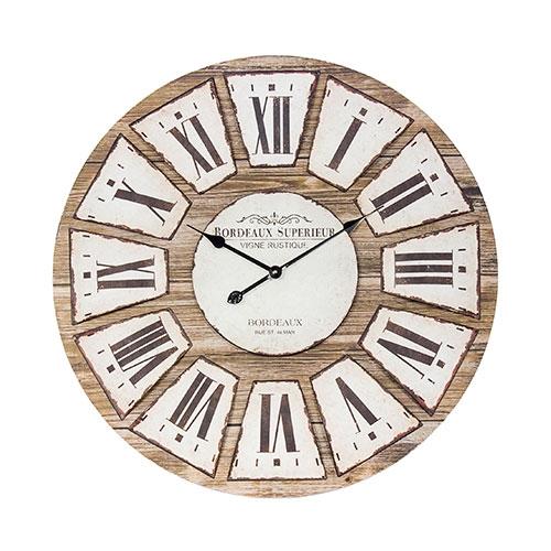 Relógio de Madeira Bordeaux Oldway - 80x2 cm