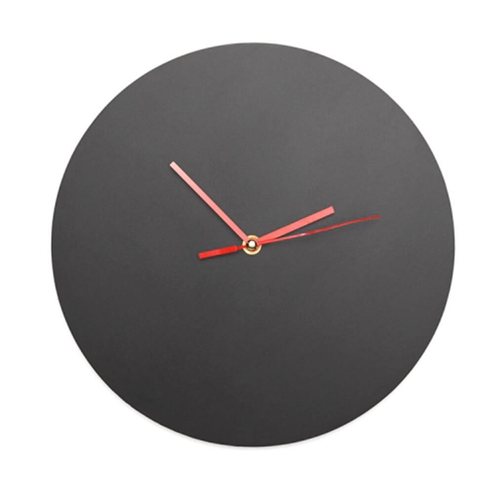 Relógio em Madeira com Tinta Lousa - 29x2 cm