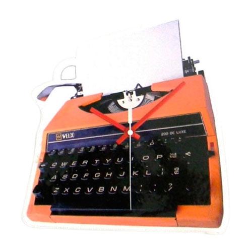 Relógio Máquina de Escrever em Polipropileno - 30x24 cm