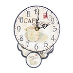 Relógio em MDF Café Au Lait Oldway