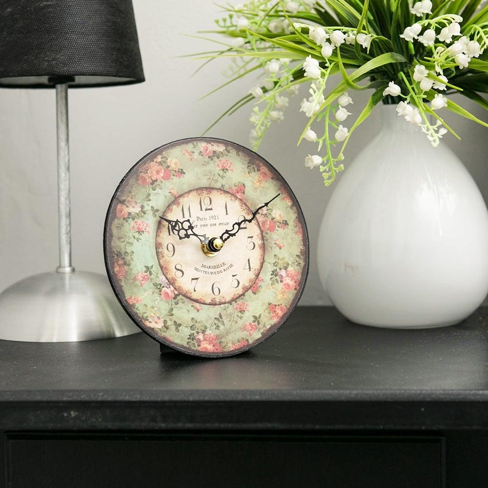 Relógio MDF Flores Romantic Oldway - 15 cm